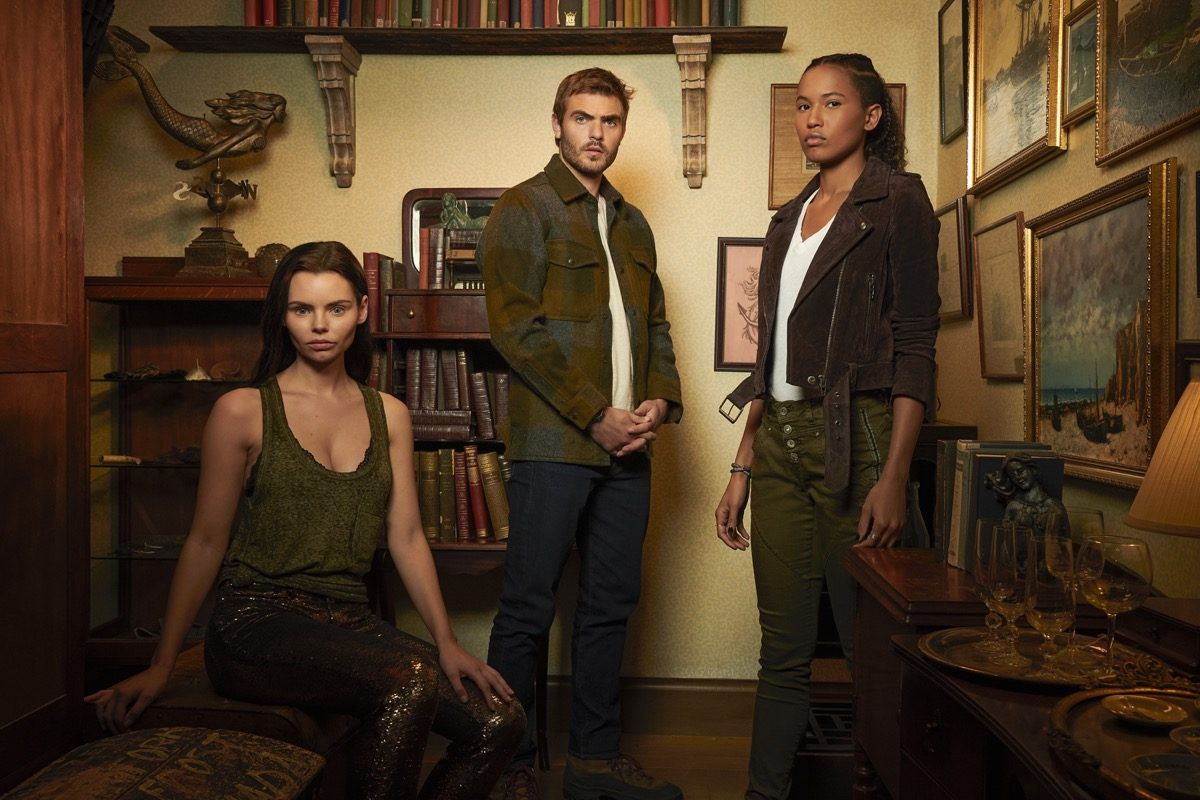 Ryn, Maddie, and Ben in a promotional photo for Siren.