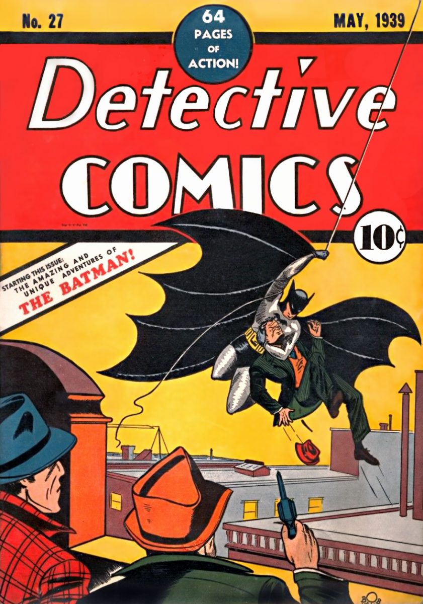 the first ever appearance of batman.