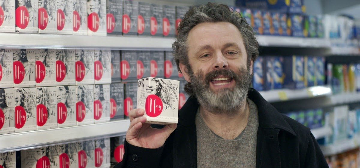 Michael Sheen with Pads