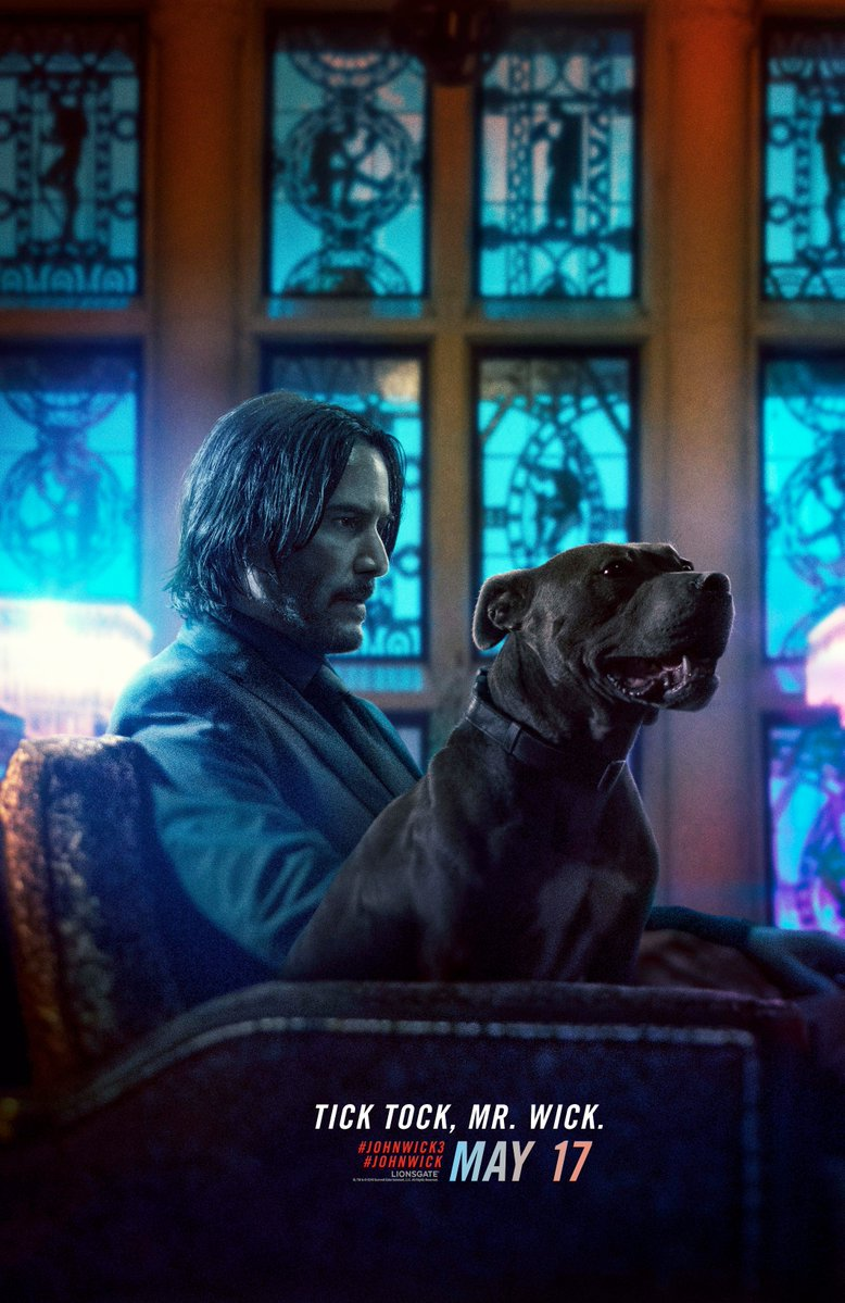 keanu reeves as john wick and his dog.