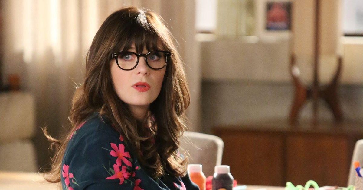 Zooey Deschanel as Jessica Day in New Girl.