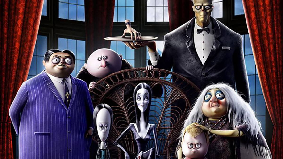 The poster for the animated film The Addams Family.