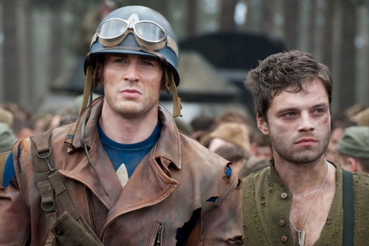 Steve Rogers and Bucky Barnes ship stucky in Captain America