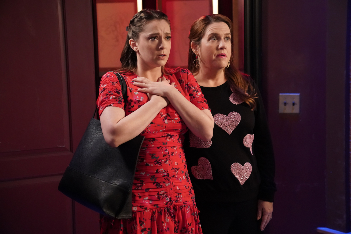 Rachel Bloom and Donna Lynne Champlin in the series finale of Crazy Ex Girlfriend.