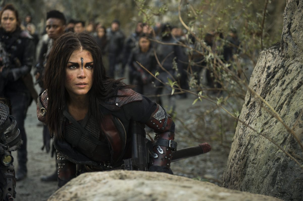 Marie Avgeropoulos as Octavia in The CW's The 100.
