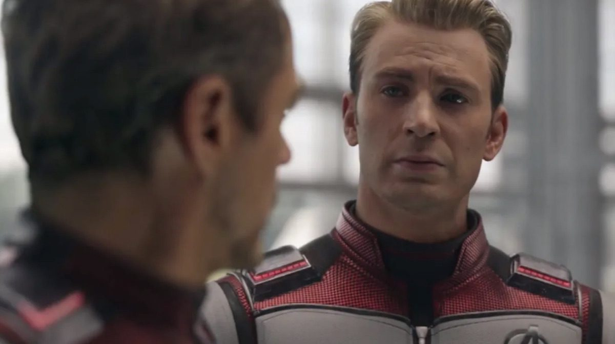 Steve Rogers and Tony Stark in 'Avengers' Endgame