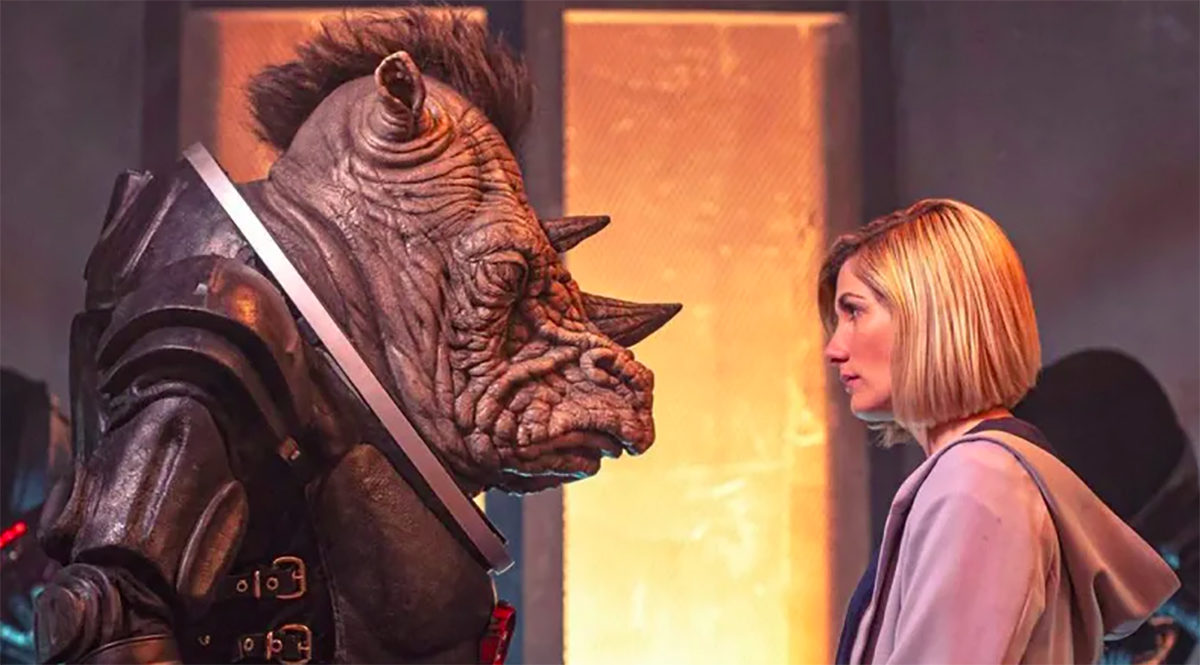 The Doctor and the Judoon on Doctor Who
