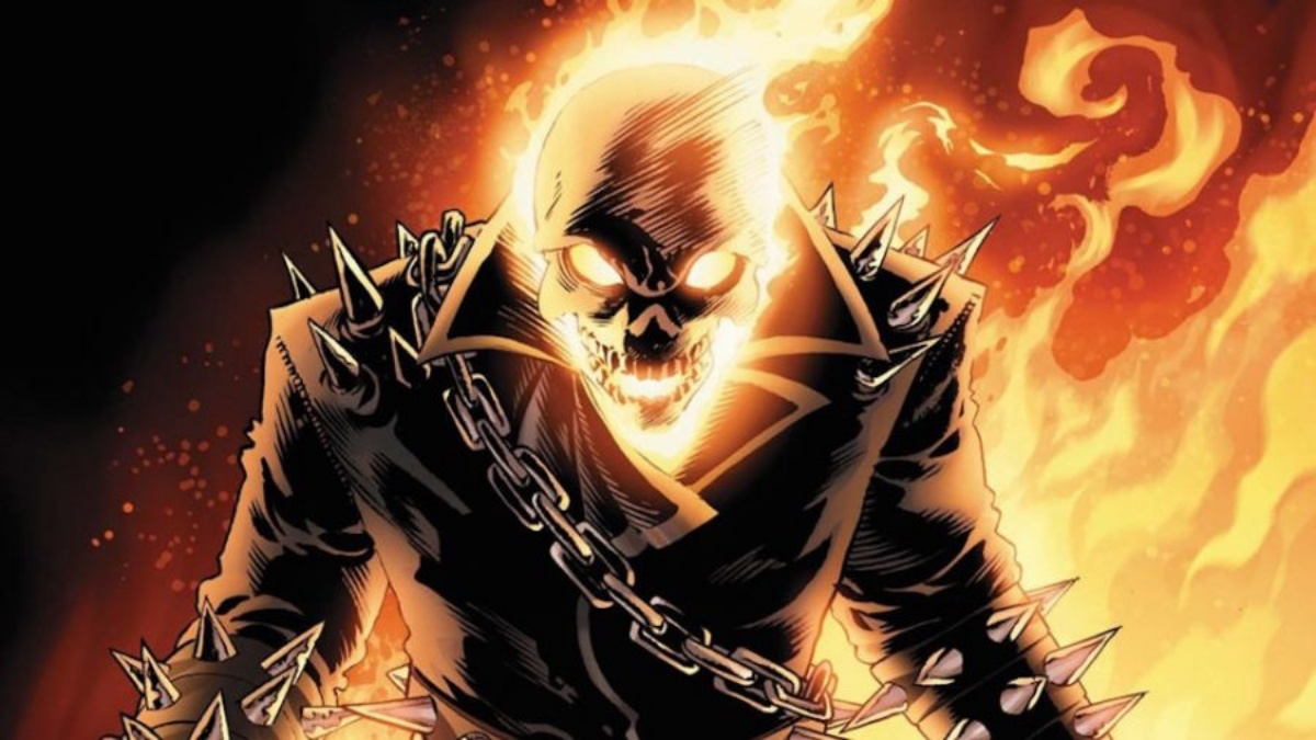 Ghost Rider in his demonic form about to vote in the 2020 election