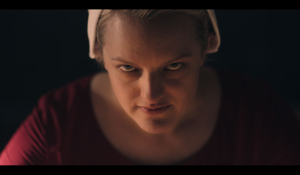 Elisabeth moss is sick of your shit as June in Hulu's The Handmaid's Tale.