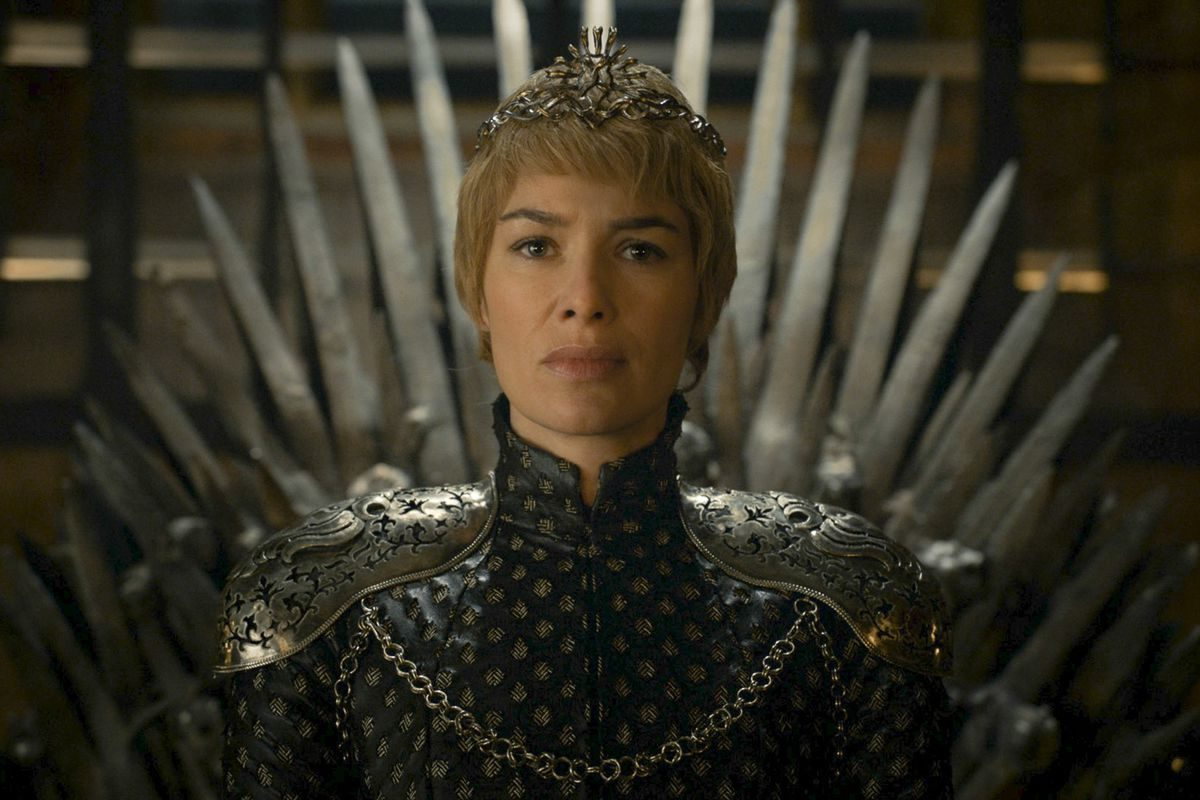 lena headey as cersei lannister on game of thrones.