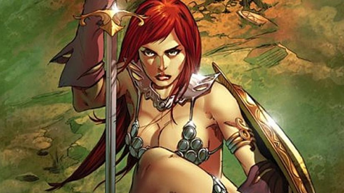 red-sonja-comic book cover for dynamite comics
