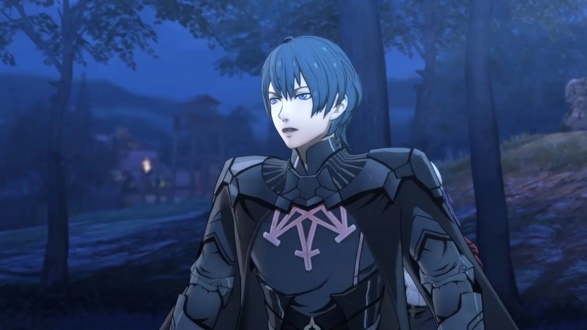 The character Byleth in Fire Emblem: Three Houses and Fire Emblem Heroes.