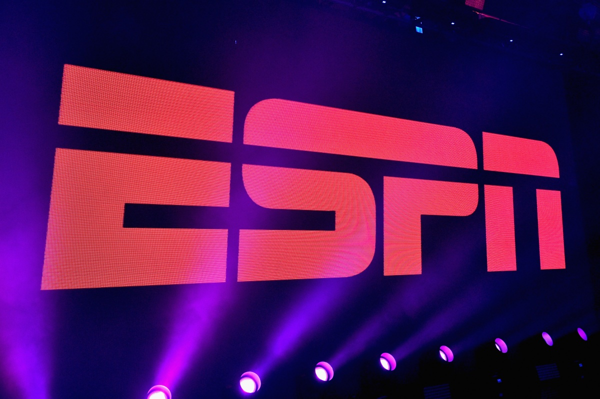 A view of the logo during ESPN The Party on February 5, 2016 in San Francisco, California. (Photo by Mike Windle/Getty Images for ESPN)