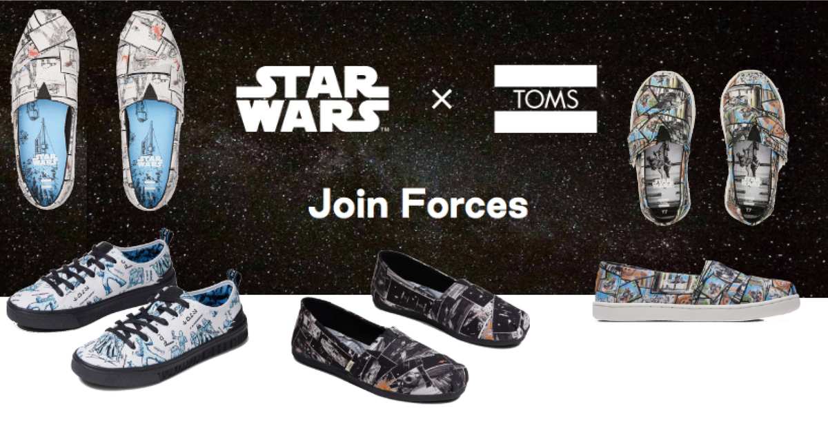 TOMS x Star Wars is a match made in Force heaven.