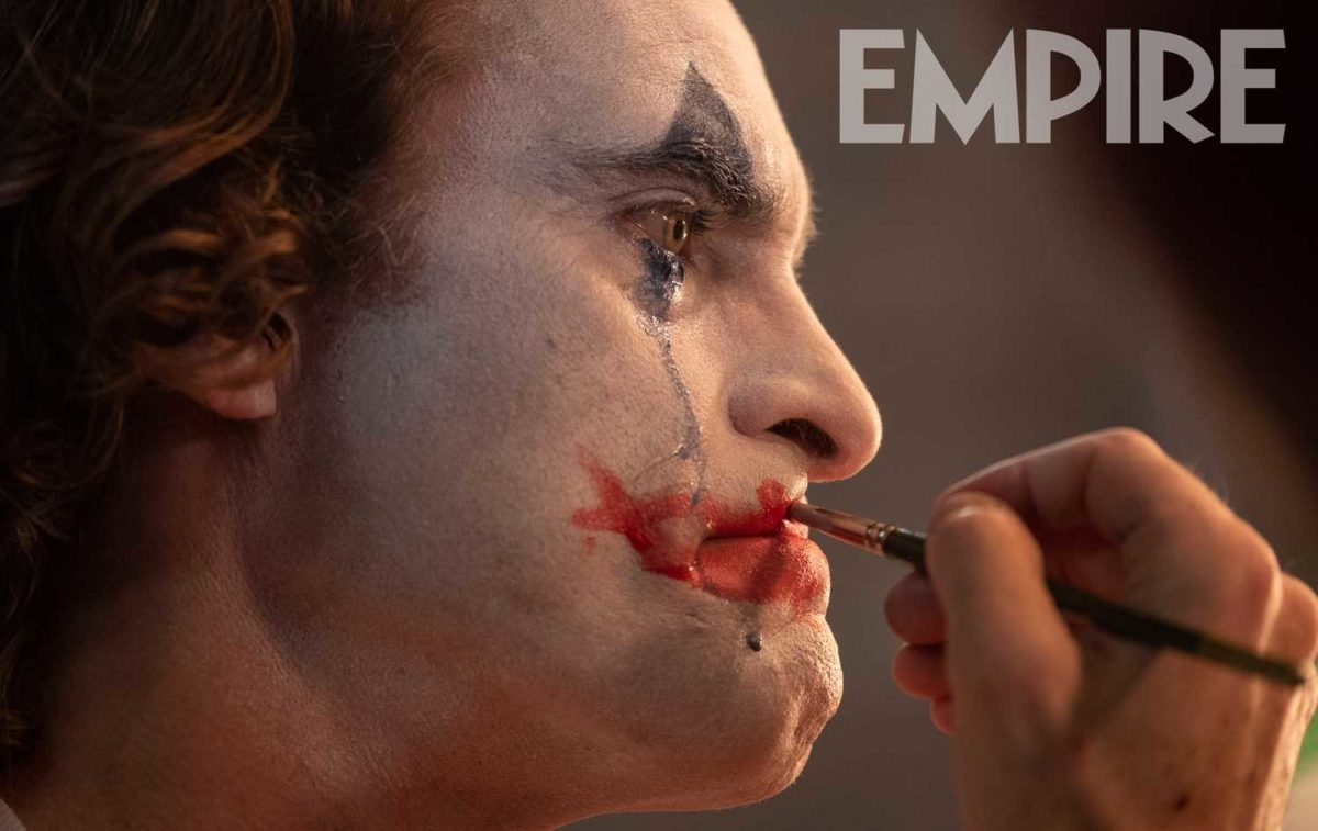 Joaquin Phoenix as the Joker.