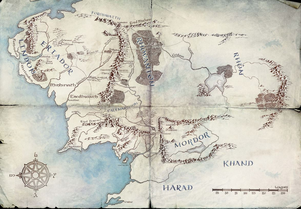 lotr middle earth map
