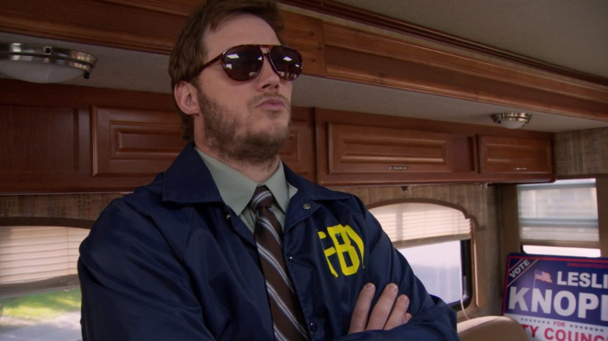 Chris Pratt as Burt Macklin in Parks and Rec