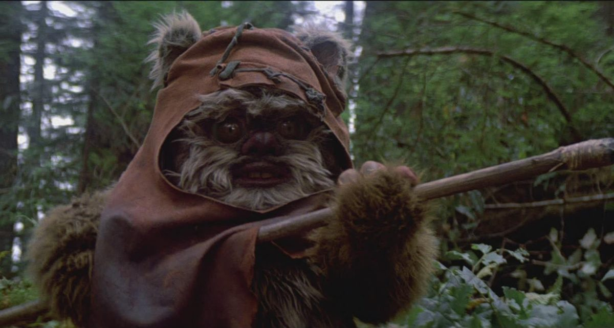 Wicket in Star Wars: Return of the Jedi