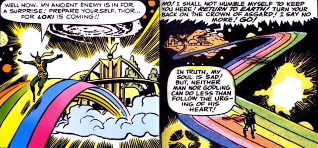 The bifrost Thor comic