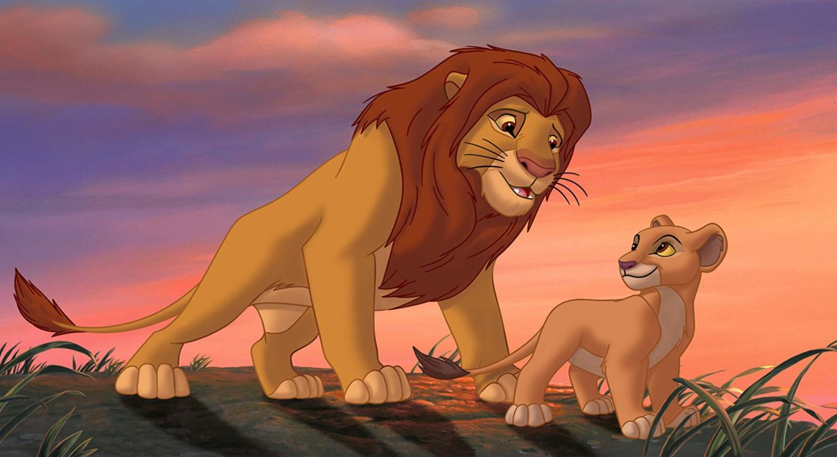 Simba and Kiara in Lion King 2