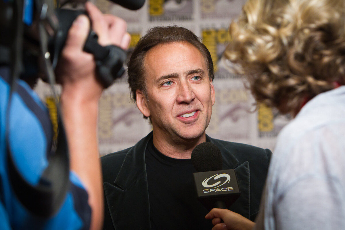 nicolas cage at sdcc 2011