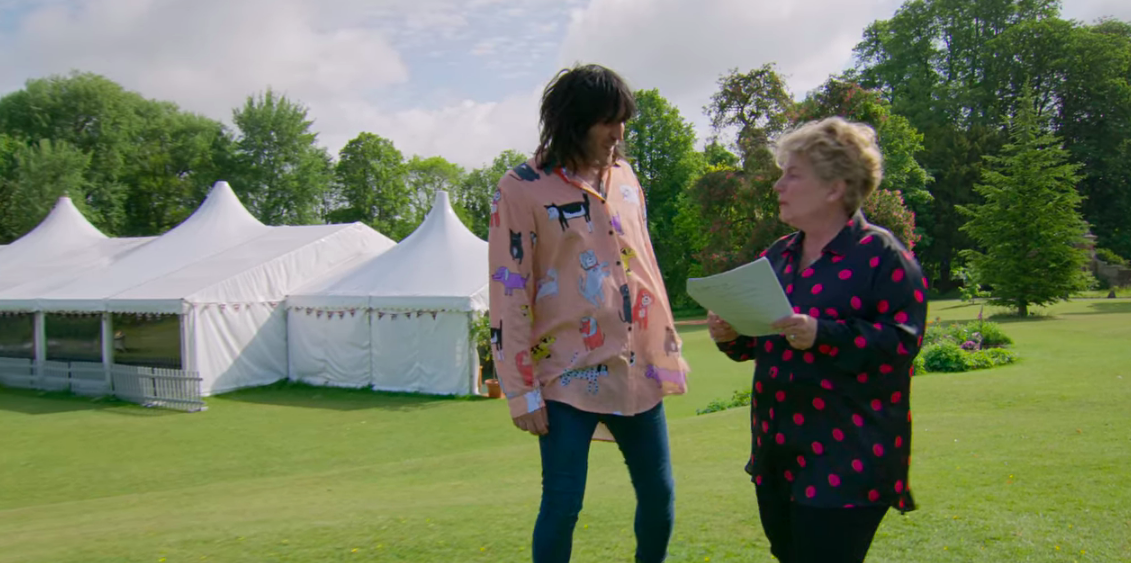 Noel Fielding in his puppy blouse