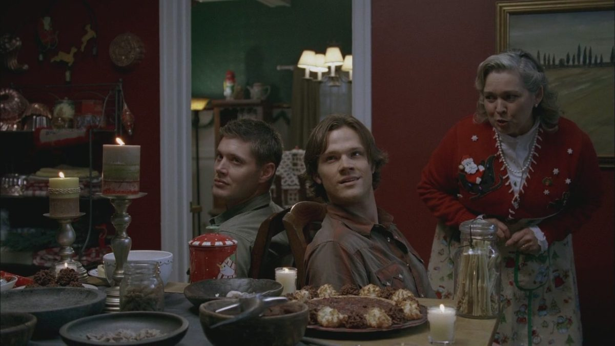 sam and dean prepare to kill in a very supernatural christmas