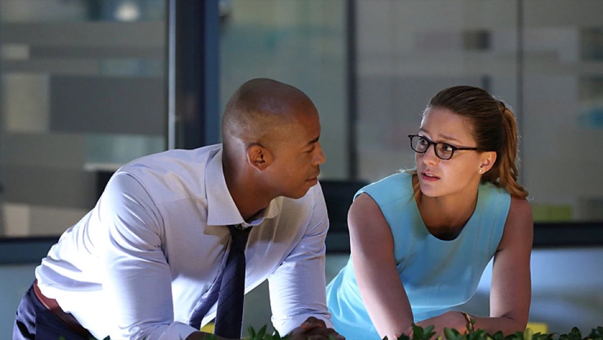 James and Kara on The CW's Supergirl.