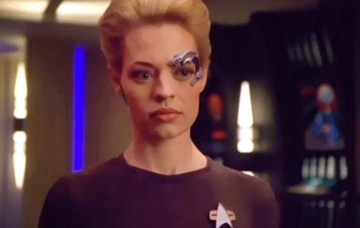 Seven of Nine on Star Trek Voyager.