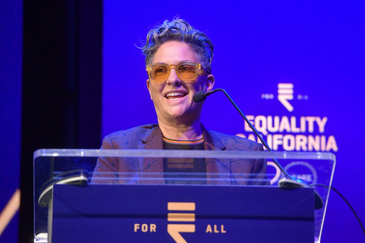 LOS ANGELES, CALIFORNIA - SEPTEMBER 28: Honoree Jill Soloway speaks onstage during Equality California's Special 20th Anniversary Los Angeles Equality Awards at the JW Marriott Los Angeles at L.A. LIVE on September 28, 2019 in Los Angeles, California. (Photo by Matt Winkelmeyer/Getty Images for Equality California)