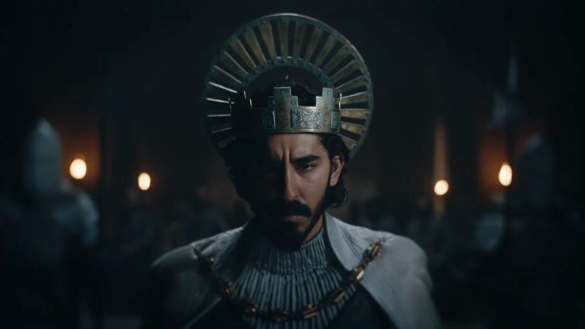 Dev Patel looks sad in the green knight