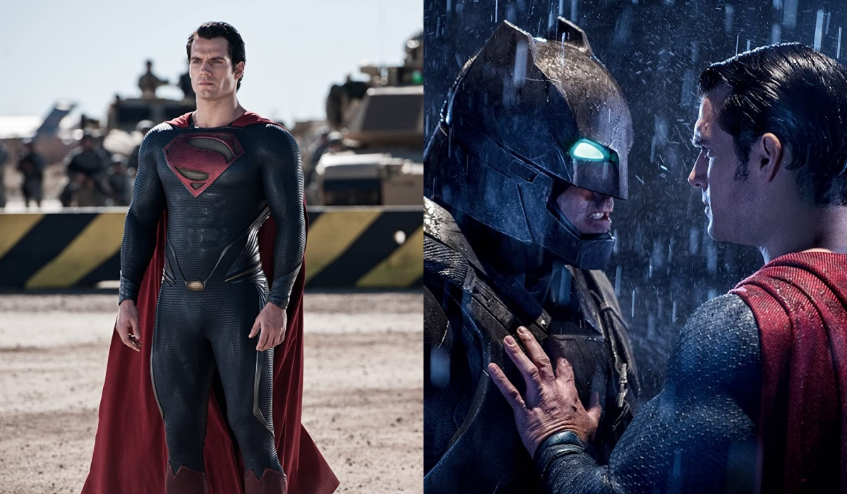 Henry Cavill in Man of Steel (2013); Batman v Superman: Dawn of Justice (2016)