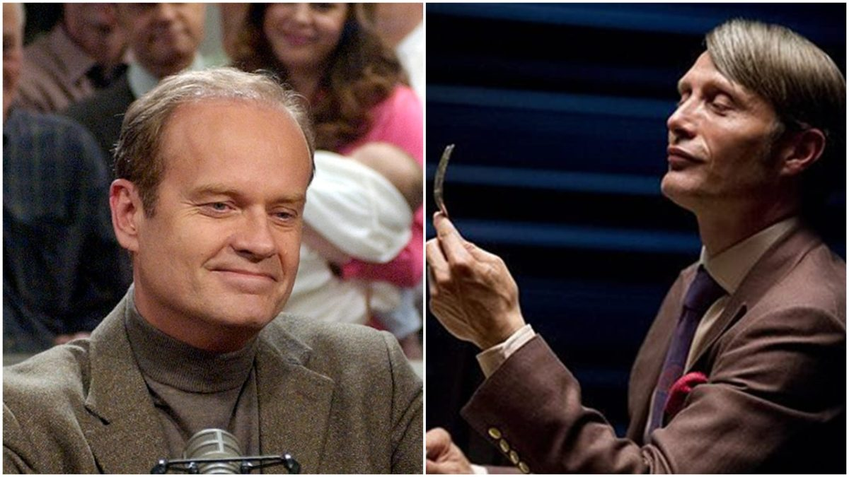 frasier crane and hannibal lecter both look smug