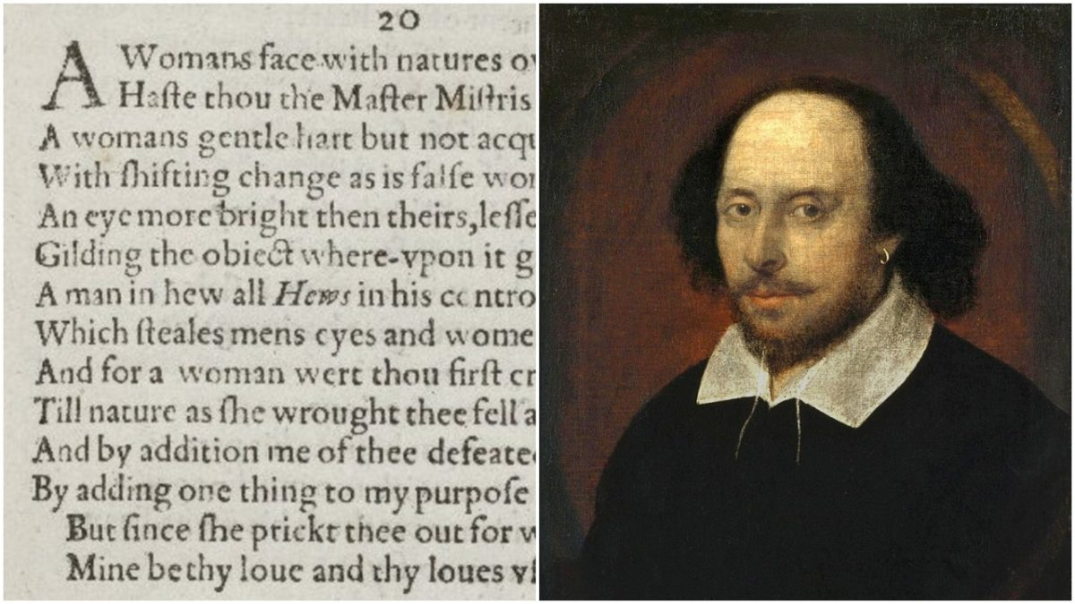 sonnet 20 and a portrait of william shakespeare