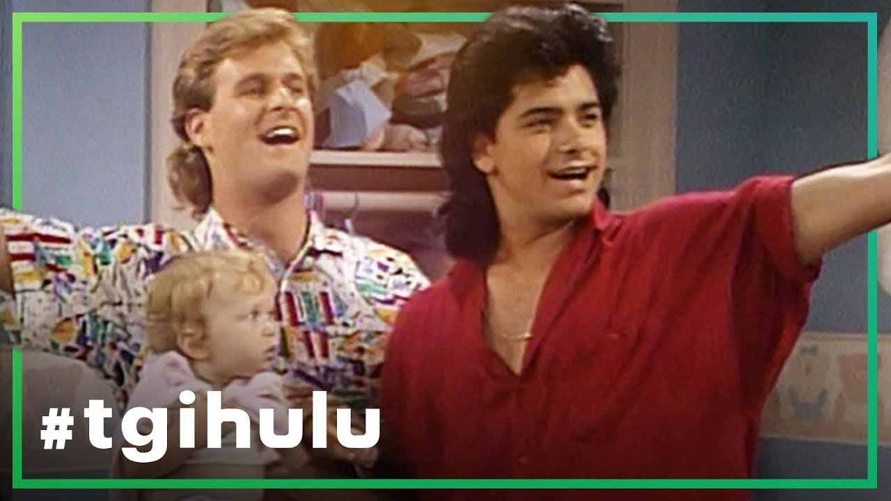 A still of Joey and Jesse from Full House in a Hulu ad