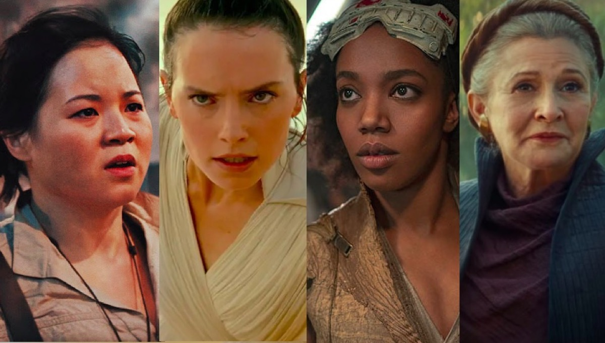 Rose, Rey, Jannah, and Leia in Star Wars: The Rise of Skywalker.