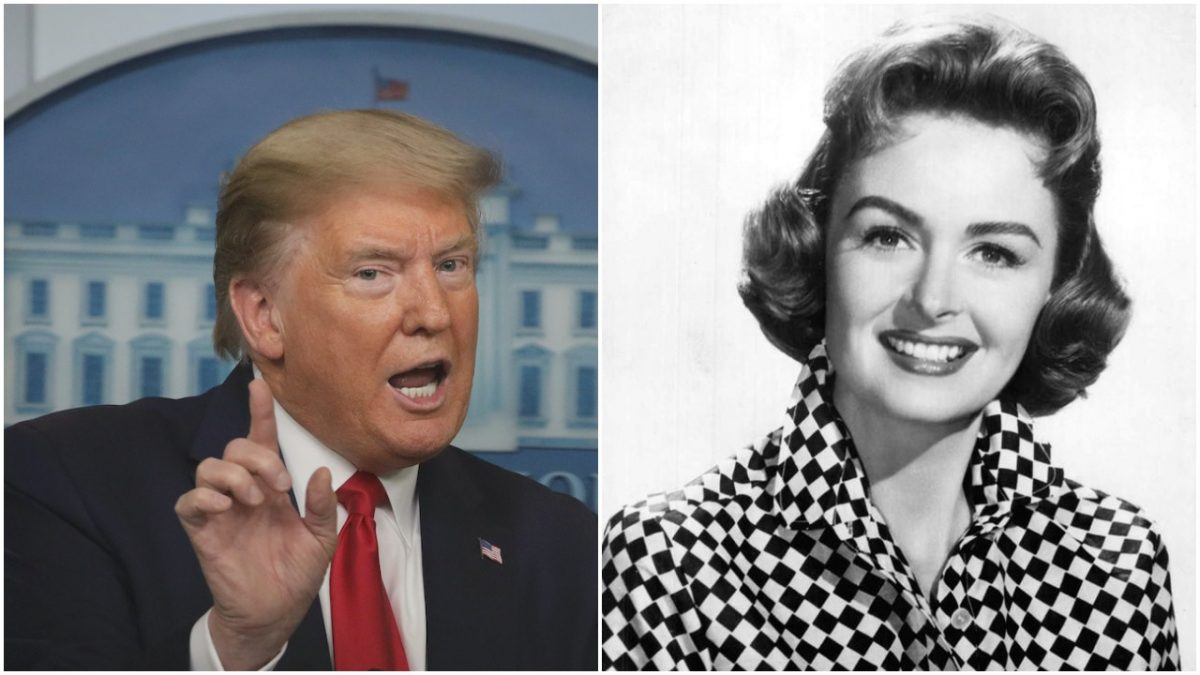 donald trump and donna reed collage