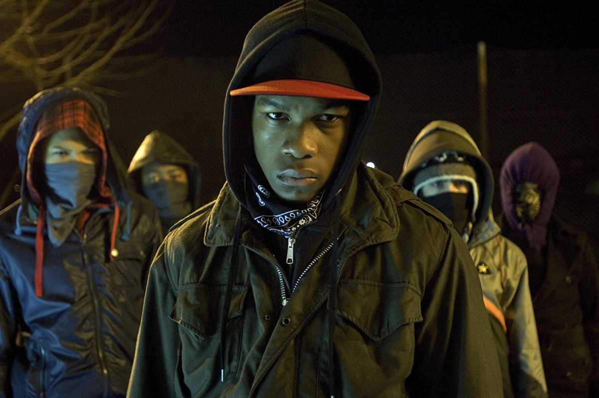Franz Drameh, Alex Esmail, Leeon Jones, and John Boyega in Attack the Block (2011)