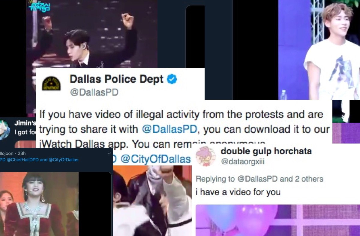 "Dallas PD inundated with fancams after asking for ""illegal"" protest footage."