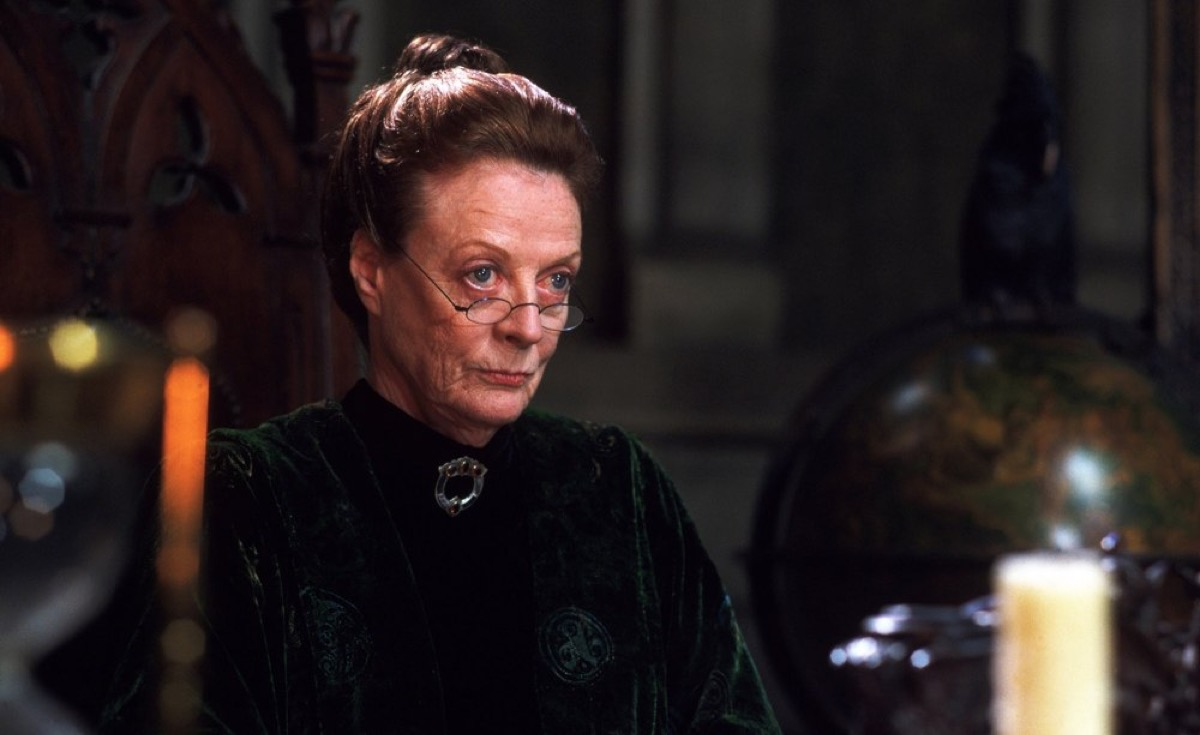 McGonagall looks over her glasses disapprovingly.