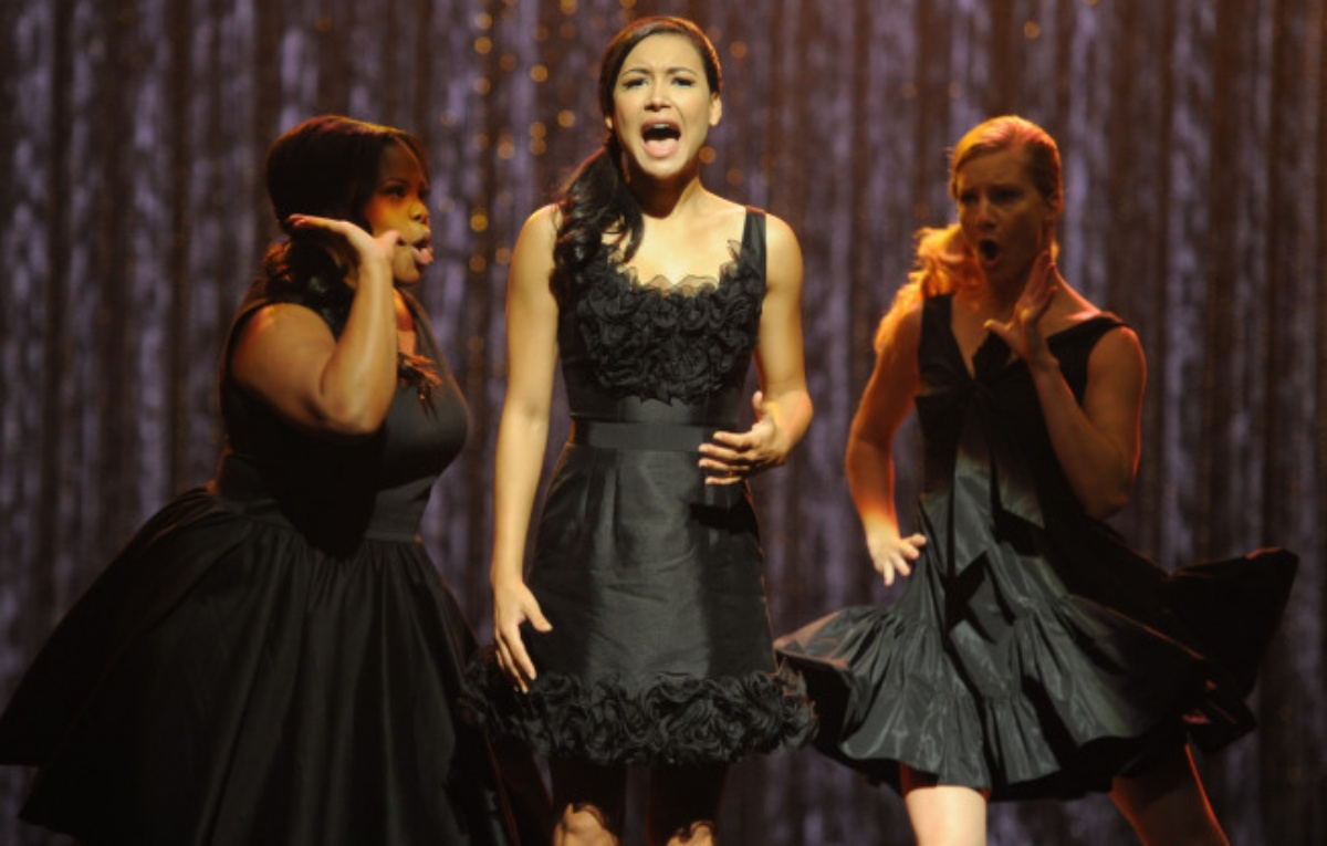 Naya Rivera, Amber Riley, and Heather Morris in Glee (2009)
