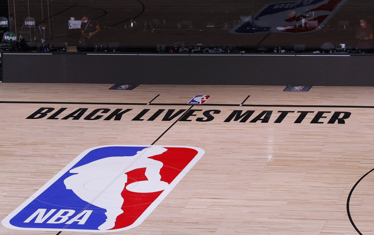 LAKE BUENA VISTA, FLORIDA - AUGUST 26: <>in Game Five of the Eastern Conference First Round during the 2020 NBA Playoffs at AdventHealth Arena at ESPN Wide World Of Sports Complex on August 26, 2020 in Lake Buena Vista, Florida. NOTE TO USER: User expressly acknowledges and agrees that, by downloading and or using this photograph, User is consenting to the terms and conditions of the Getty Images License Agreement. (Photo by Kevin C. Cox/Getty Images)