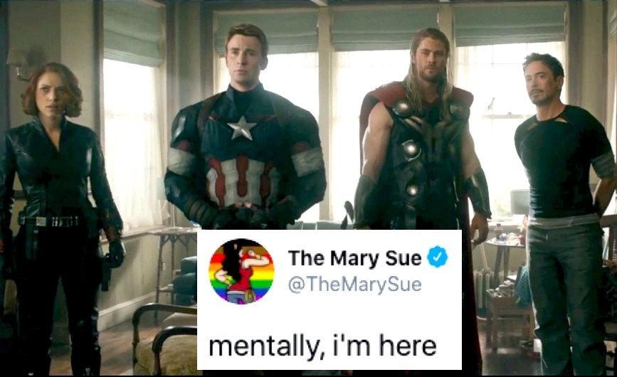 The Avengers hanging out at Clint's fake home in Age of Ultron