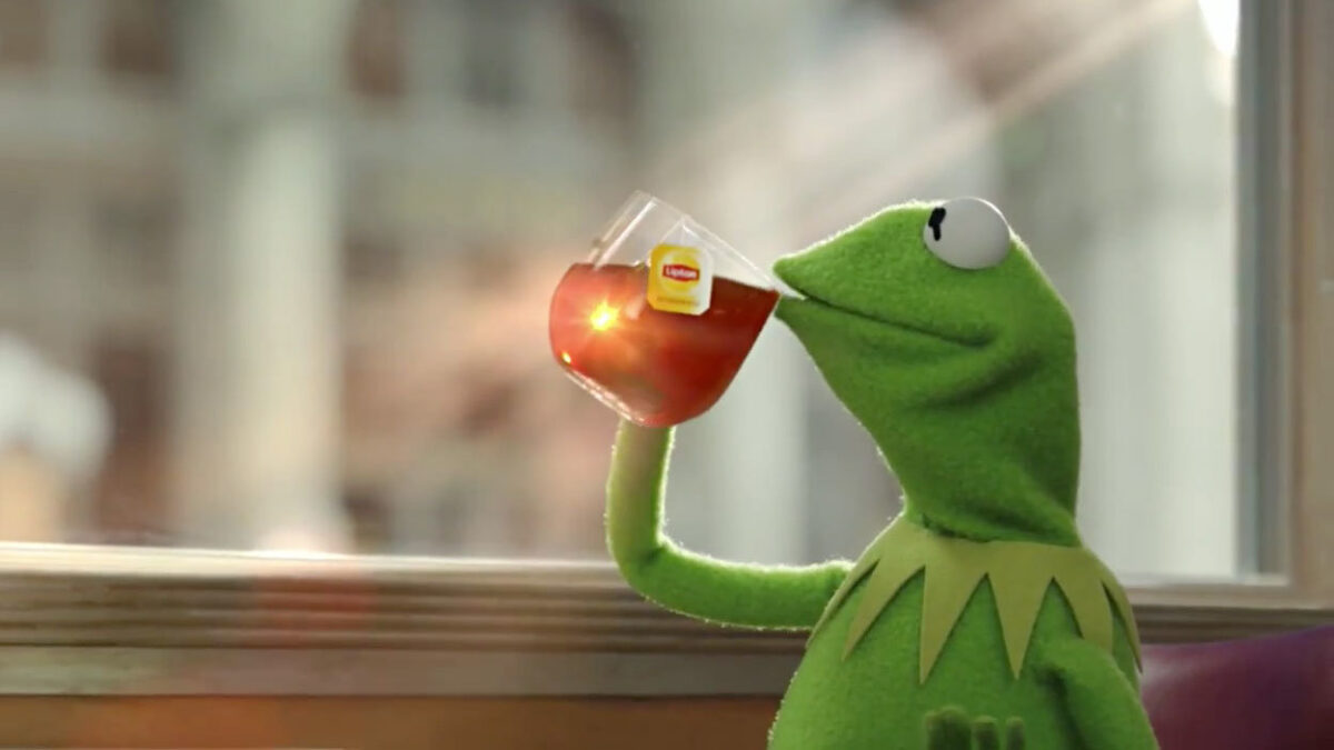 kermit drinks tea