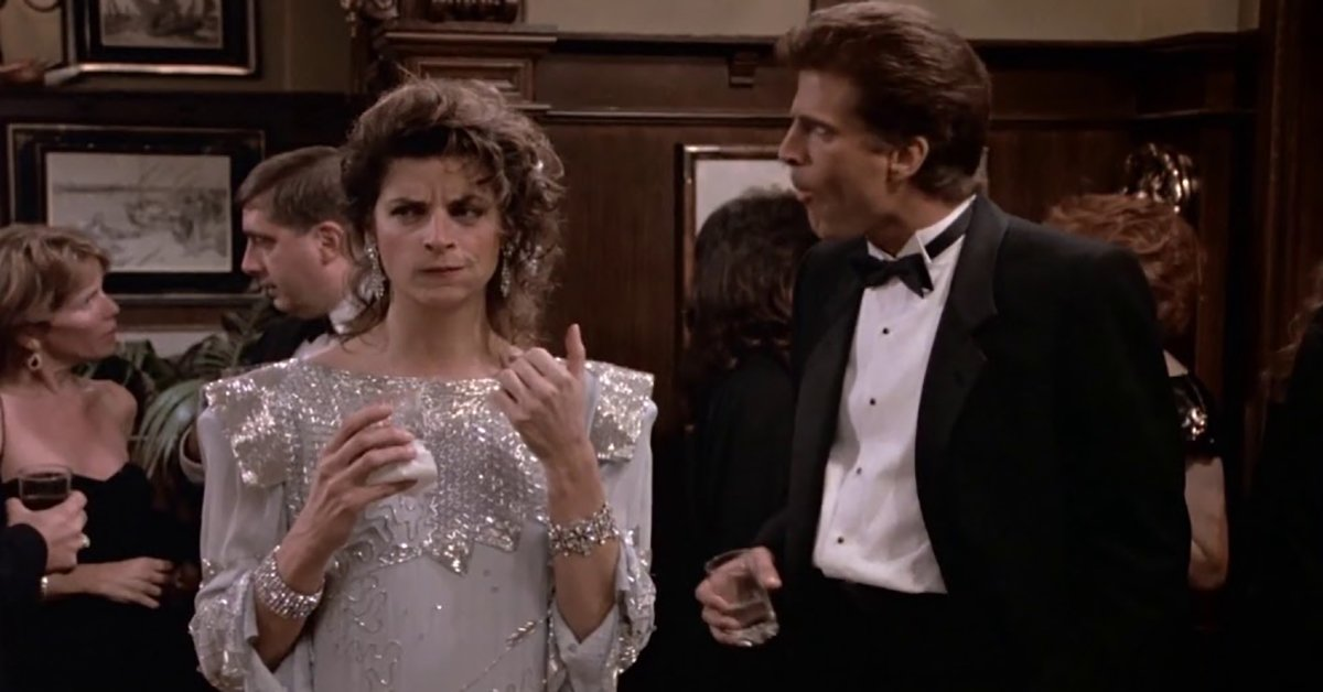 Kirstie Alley and Ted Danson in Cheers