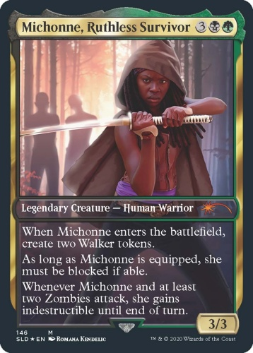 michonne card preview