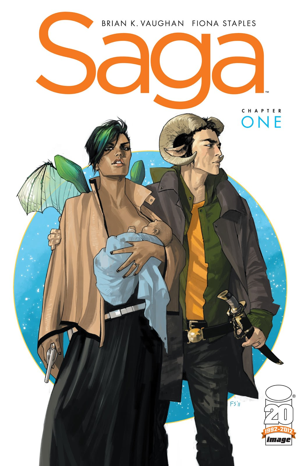 Cover for Saga by Brian K. Vaughan and Fiona Staples