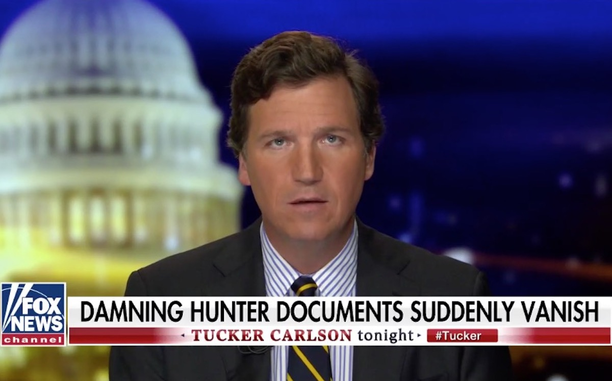 Carlson Swears Had 'Damning' Biden Docs Until They Vanished From Mail