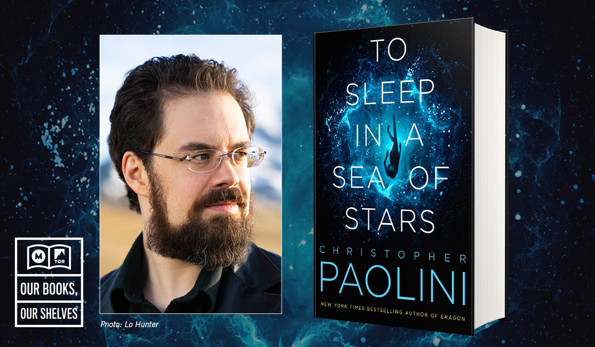 Christopher Paolini and his newest book, To Sleep In A Sea of Stars