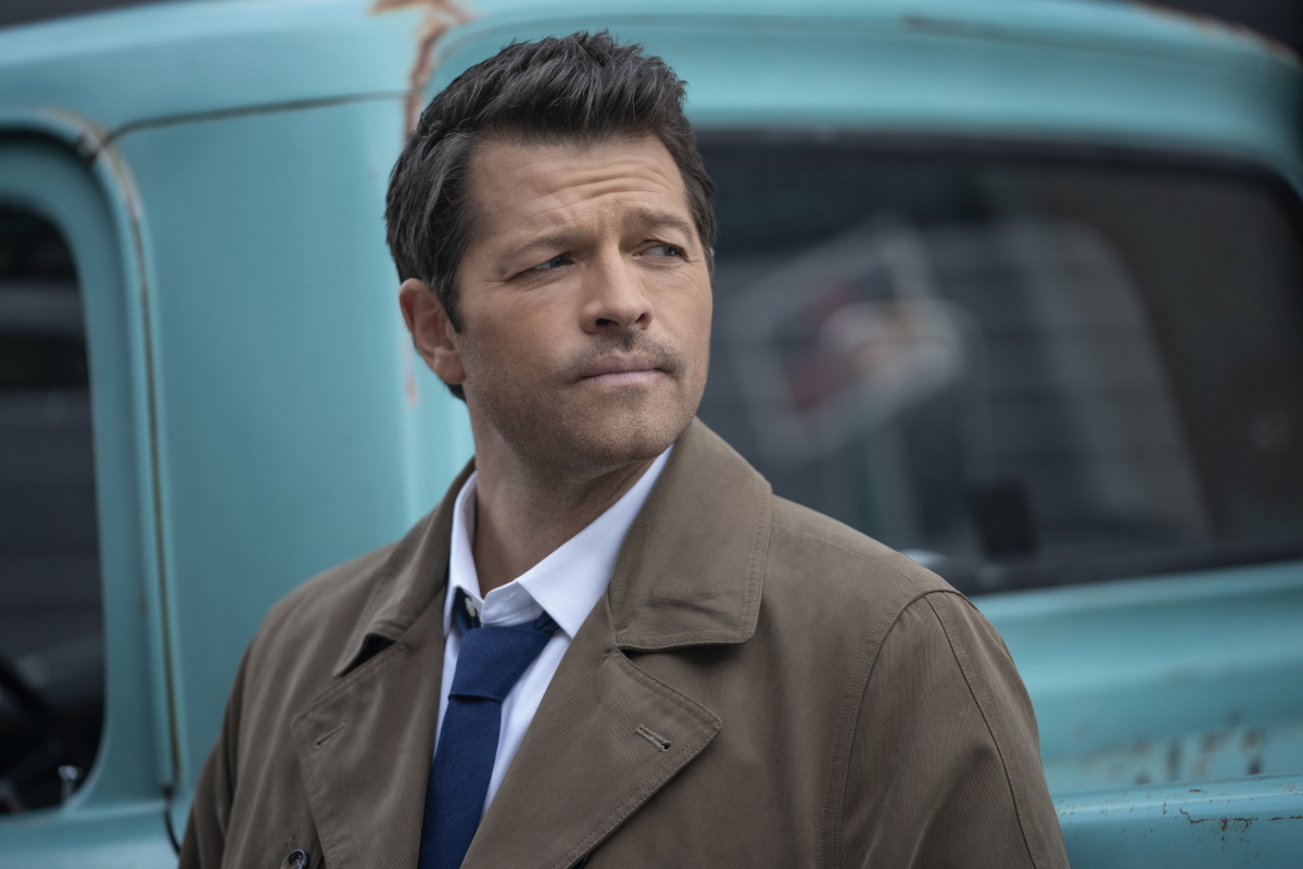 "Supernatural -- ""Gimme Shelter"" -- Image Number: SN1515A_0012r.jpg -- Pictured: Misha Collins as Castiel -- Photo: Katie Yu/The CW -- © 2020 The CW Network, LLC. All Rights Reserved.Supernatural -- ""Gimme Shelter"" -- Image Number: SN1515A_0012r.jpg -- Pictured: Misha Collins as Castiel -- Photo: Katie Yu/The CW -- © 2020 The CW Network, LLC. All Rights Reserved."
